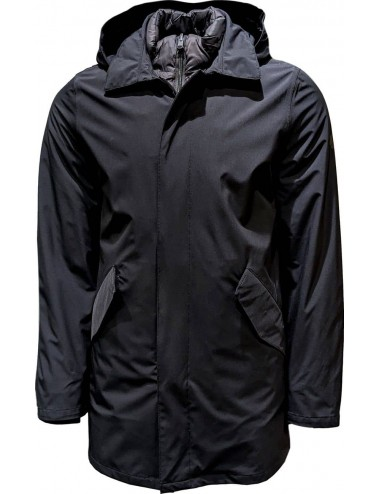 HERNO CHAQUETON SOFT SHELL IMPERMEABLE MARINO