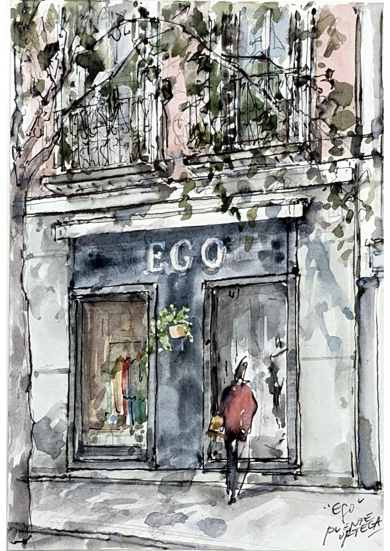 Fachada aquarela Ego Madrid
